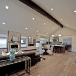 Grand living areas with engineered hardwood
