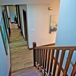 Mahogany wood stairs